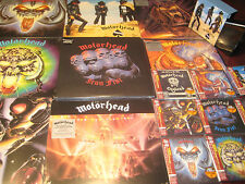 MOTORHEAD ACE 9  REPLICA'S JAPAN OBI CD BOX+TEN 180 GRAM VINYL LP'S + 45 SINGLES