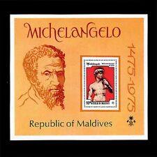 Maldives, Sc #601, MNH, 1975, S/S, Paintings, Michelangelo, 1GHI