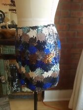 French Connection Multicolor Sequin Mini Skirt Size 8