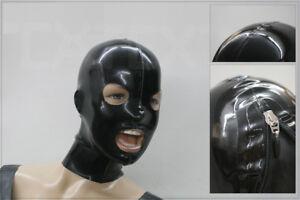 "☀️ LATEXTIL ☀️ - Latexmaske ""NEW-OPEN-BLACK"" - latex mask rubber - NEU / NEW"