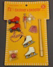 1960s Vintage SKIPPER & SKOOTER Sporting Accessories on Original Card - BARBIE