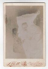 BABY Post Mortem CABINET PHOTO Johnstown New York DEATH Macabre MORBID Dead