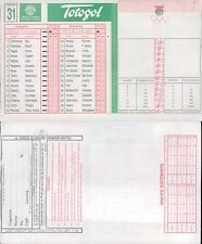 TOTOGOL R@R@  SCHEDA  N.31  A 30 PARTITE DEL 15 04 1995