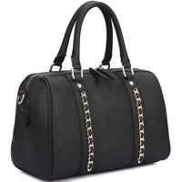New Womens Handbags Faux Leather Satchel Tote Bag Shoulder Bags Medium Purse