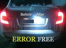 SKODA OCTAVIA / FABIA COOL WHITE Upgrade LED Number Plate Light Bulbs NO ERRORS