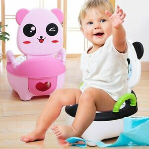 Portable Baby Potty Multifunction Toilet Seat Children's Pot Chair With Cute Ani