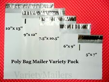25 Poly Bag Mailer Variety Pack 5 Sm To Med Sizes Shipping Bag Assortment
