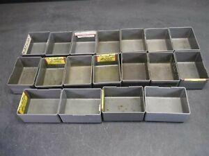 "Used Lot of 18 Stanley Vidmar BN-20-04 4"" x 3"" x 2"" Plastic Drawer Bins B"