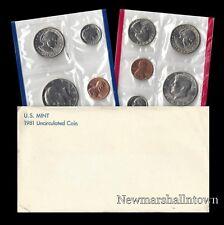 1981 P+D US Mint Set ~ Susan B. Anthony Kennedy Washington Roosevelt Jefferson