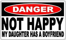 Danger Sign: Not Happy - My Daughter Has A Boyfriend - Gift Idea Dad Man Cave