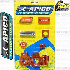 Apico Bling Pack Orange Blocks Caps Plugs Nuts Clamp Covers For KTM SX 85 2005