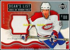 UD HONOR ROLL 2003 CHRIS HIGGINS NHL CANADIENS RARE DEAN'S LIST GAME JERSEY #173