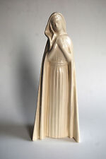 Vintage Pottery, Woman, White, Serene, Mary, Collector