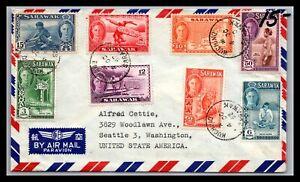 GP GOLDPATH: SARAWAK COVER 1952 AIR MAIL _CV699_P21