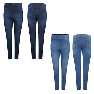 Womens Elasticated High Waist Jeggings Denim Jeans All Sizes 8 - 18 UK