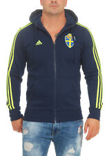 Adidas Chaqueta Hombre Suecia Fútbol Fan Vff 3S Sudadera con Cremallera Neu Azul