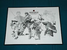 Rare! DICK KRAMER : framed POSTER PRINT for WOOLRICH ELITE SERIES TACTICAL
