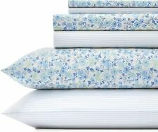 Laura Ashley Home Ticking Stripe Ultra Soft | 6-Piece Percale Weave Sheet Set-10