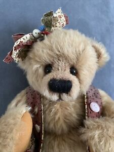 Buttons Bear - Handmade Artist Bear by Isabella Hoffman- BearlyCollectibles 14In