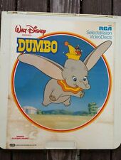 Walt Disney's DUMBO (CED, Video Disc ) Animated Movie Pre-owned G