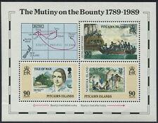 PITCAIRN ISLANDS - 1989 'MUTINY ON THE BOUNTY' Miniature Sheet MNH SG347 [C1953]