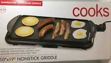 Electric Nonstick Griddle Black By Cooks Drip Tray Polarized Plug PanCakes Bacon