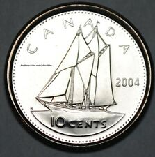 Canada 2004 P  BU Nice UNC 10 cent Canadian Dime from mint roll
