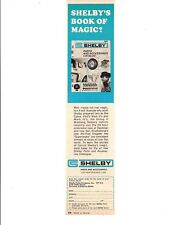 1968 SHELBY PARTS & ACCESSORIES BOOK ~ ORIGINAL SHELBY PARTS COMPANY AD