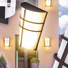 LED Aplique exterior negro para jardín patio balcón veranda camino terazza