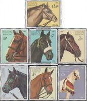 Laos 1003-1009 (kompl.Ausg.) postfrisch 1987 Pferde