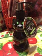 HALLOWEEN BLACK CAT SOAP LOTION PUMP DISPENSER  NWT TAFFY APPLE SCENT