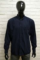 Camicia CAMEL ACTIVE Uomo Taglia Size XL Maglia Shirt Man Cotone Regular Fit Blu