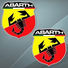 2 Vinyl Stickers Auto Car ABARTH (Fiat) Scorpion Tuning Race Rally Wheels B 205