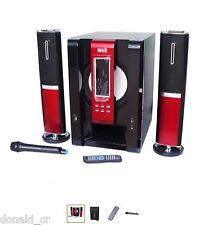 SISTEMA AUDIO 2.1 120 W CON USB E MICROFONO WIRELESS nuovo