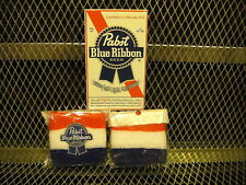 PBR PABST BLUE RIBBON Beer ~ NEW ~ 2 PACK Sweatbands Wristbands w FREE Sticker