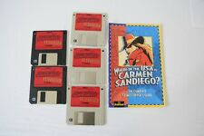 """Where in the USA is Carmen San Diego? 3.5"""" Disks set and user guide"""