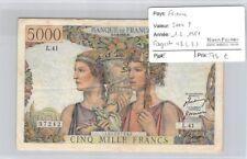 BILLET FRANCE - 5 000 FRANCS   1.2.1951