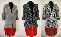 ex- NEXT Blazer - Print 3/4 Sleeve Jersey Blazer Jacket