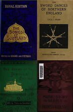 160 OLD BOOKS ENGLISH FOLK SONGS MUSIC BALLADS MORRIS SWORD & COUNTRY DANCES DVD