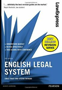 Law Express: English Legal System By Emily Finch, Stefan Fafins .9781292086873