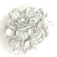 50 x Clear CRYSTAL Dummy / Pacifier Faceted Acrylic Charms, Baby Shower