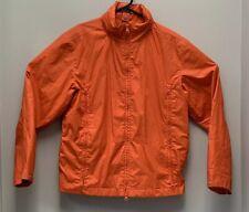 Ralph Lauren Women's M Orange Windbreaker Rain Jacket Convertible backpack