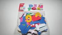 Blister letras de goma eva de colores adhesivas manualidades colegio