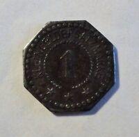 Not-/Kriegsgeld - 1 Pfennig 1917 - Eisen - STADT Flensburg - SELTEN- ss-vz