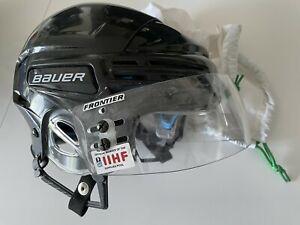 Bauer Eishockey Helm HH 7500 schwarz Gr. M mit Frontier IIHF Visier