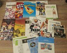 Various Nintendo Wii & Gamecube Manual Lot