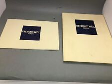 Booklet Catalogue Watches Precies Movements 1994 Lot Of 2 Raymond Weil Geneve