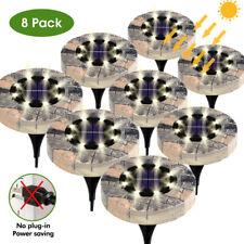 4-20 Pcs Solaire LED Géothermique Set Lampe pour Sol, à Encastrer 8 Leds