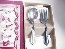 VERY Vintage National Silver Co. Silverplate Baby Spoon & Fork.