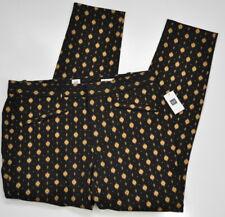 Gap Skinny Ankle Metallic pants black gold Size 10 Women's Stretch NWT